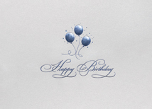 Balloon Trio Birthday Greeting Cards